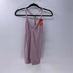 Spanx smoothing romper in dusty mauve sz L NWT